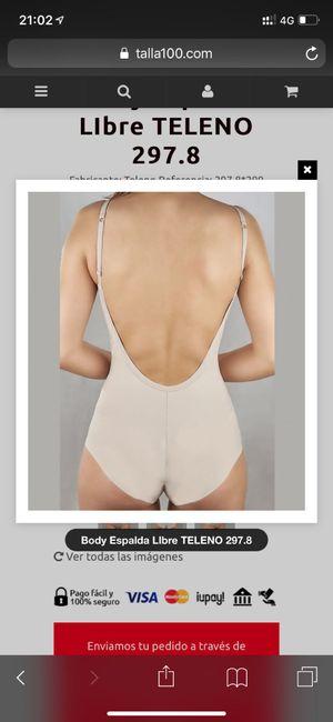 Por fin ropa interior (body escote espalda) - 1