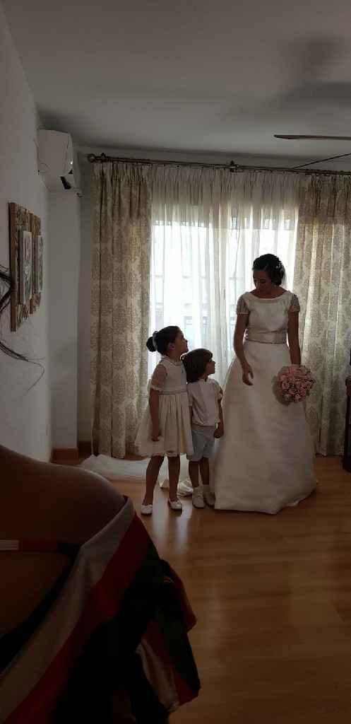 Vestidos de novia en rosa palo - 1