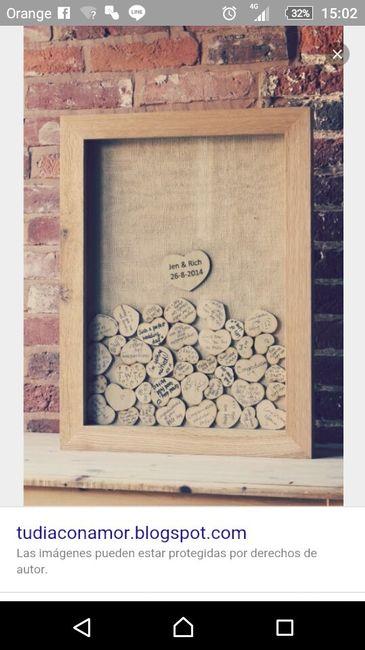 Corazones de madera como libro de firmas - 1