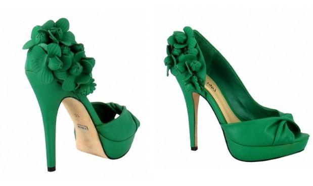 Moda Verdes Zapatos Nupcial De Foro Zara qPxngnwt6f