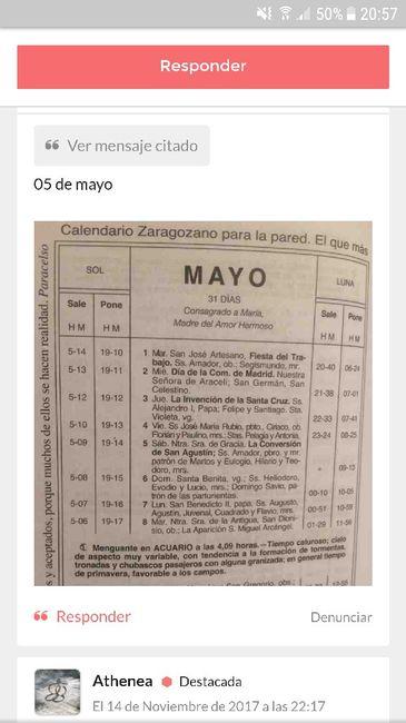 Calendario Zaragozano 2020.Calendario Zaragozano Mayo 2018 Organizar Una Boda Foro Bodas Net