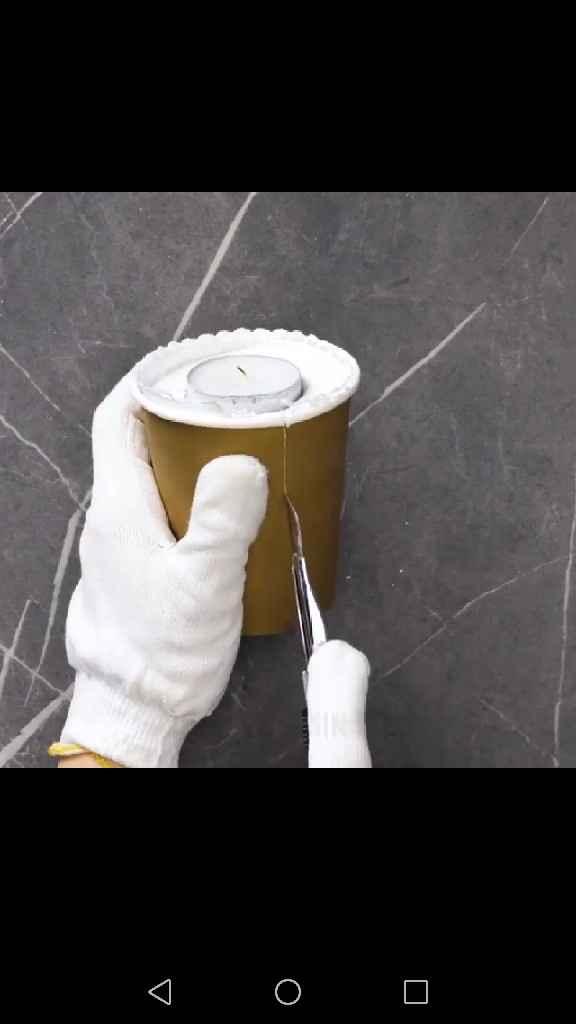 Velas con cemento - 6