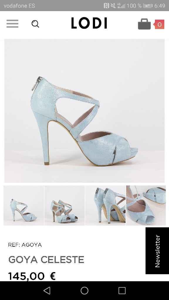 Zapatos novia azul pastel - 1