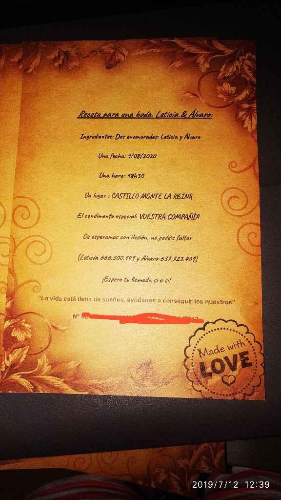 Mis invitaciones - 1