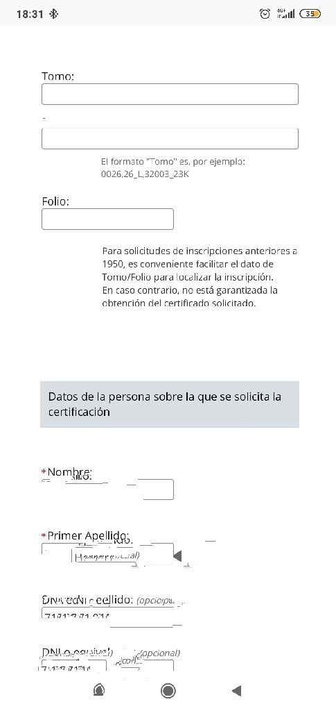 Certificado de nacimiento - 2