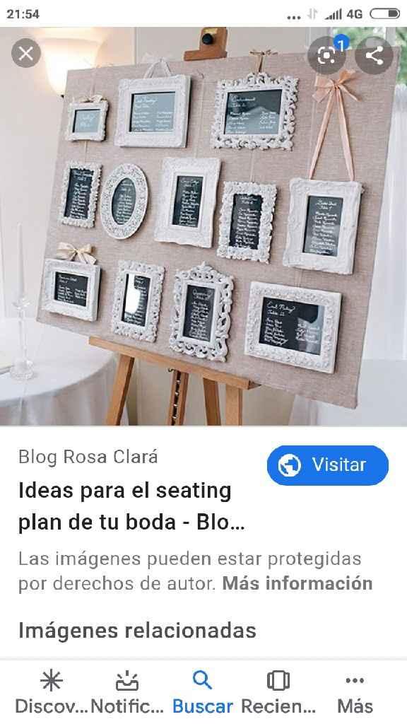 Ideas para el seating plan - 2