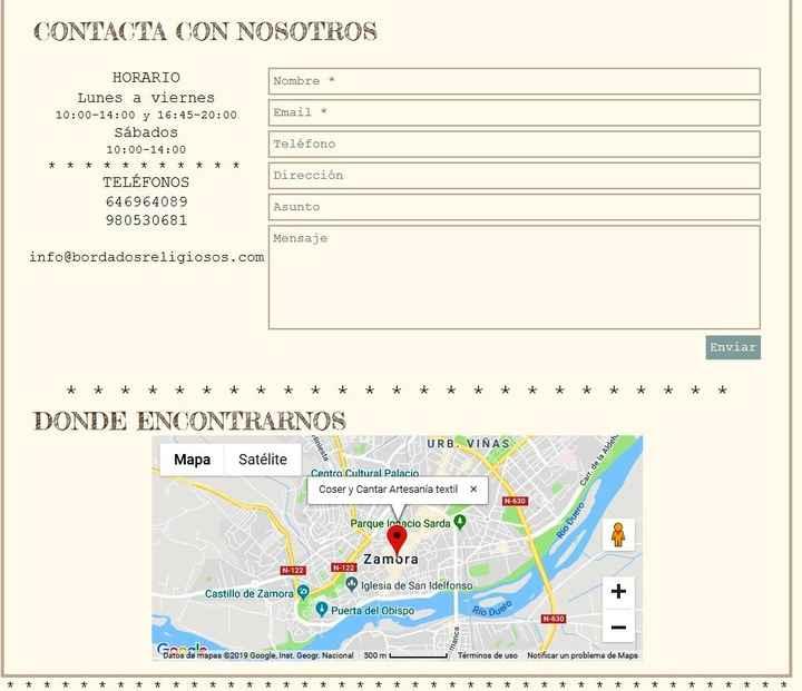 Contacto Coser y Cantar