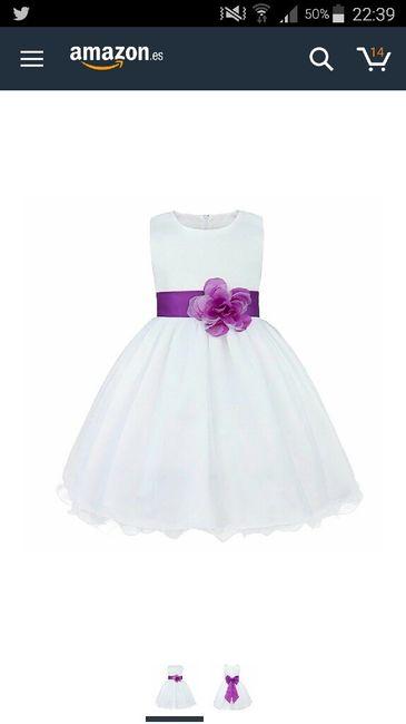 Vestidos de dama de honor infantil