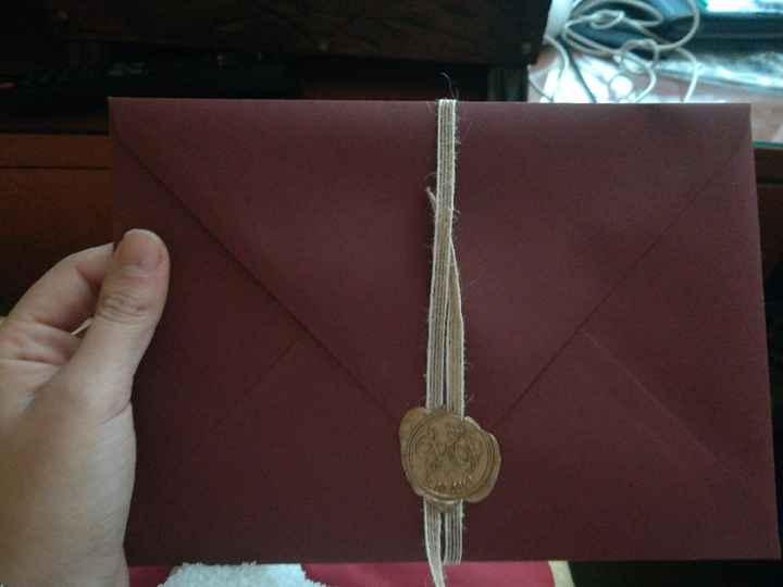 Compra de sobres para la invitación - 1
