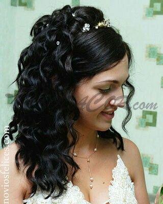 Peinados Para Novias Con Cabello Rizado Cortes De Pelo De