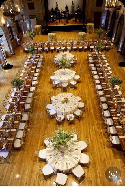 Tipo de mesas ¿rectangulares y redondas o solo un tipo de mesa? 1