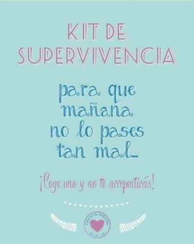 Mi cartel y kit de supervivencia!! - 1