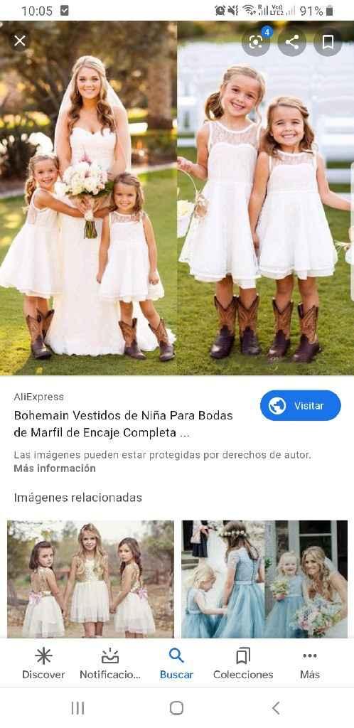Vestidos Damitas de Honor - 3
