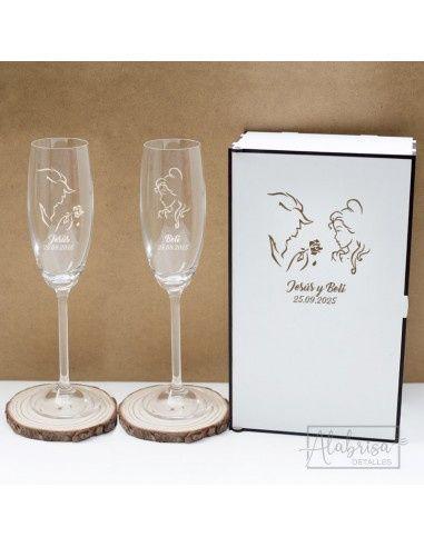 ¿Tendréis copas personalizadas para el brindis? 2