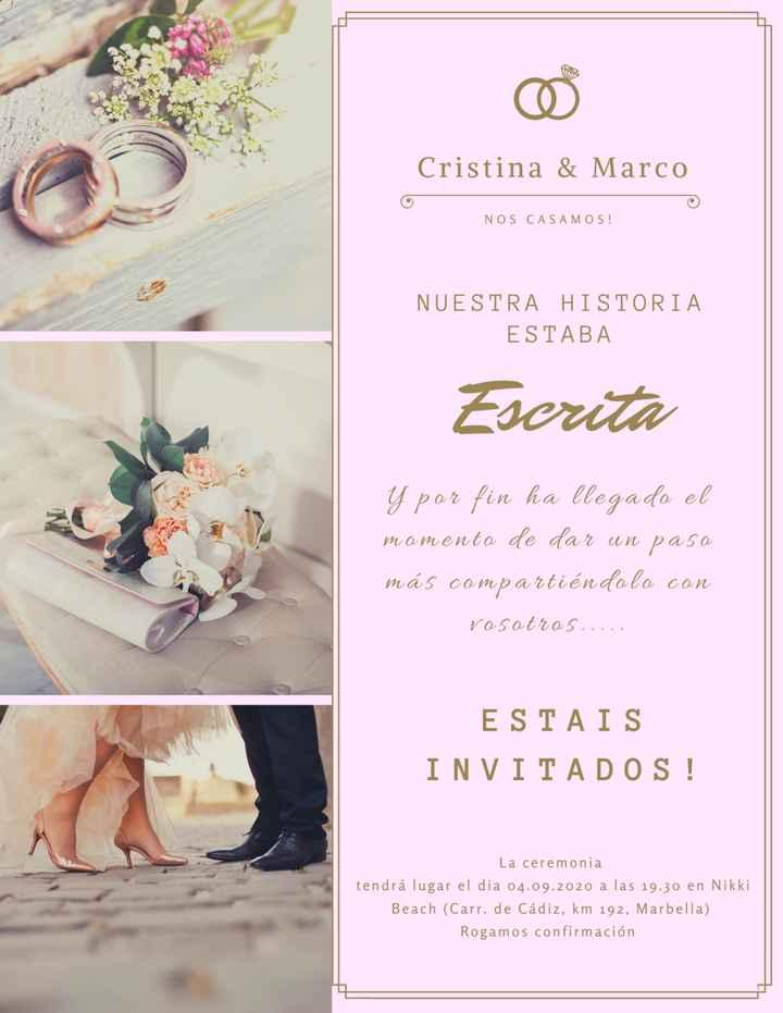 Ideas para tus invitaciones de boda, ¡Vota tu favorita! 👇 - 1