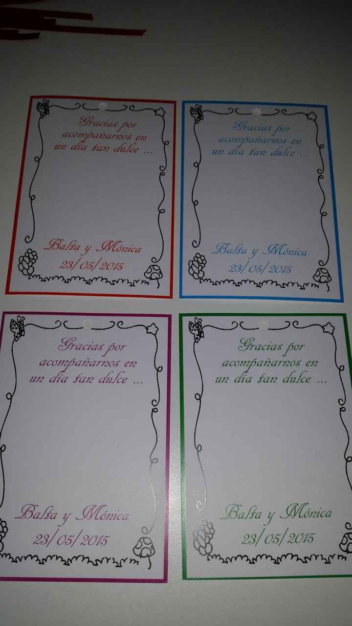 Nuestras tarjetas de agradecimiento - 1