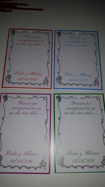 Nuestras tarjetas de agradecimiento - Manualidades - Foro Bodas.net