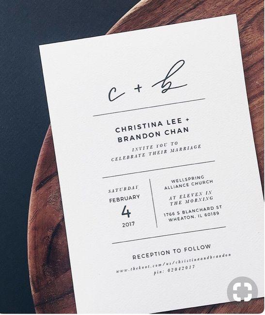 Invitaciones minimalistas ¿si o no? - 2