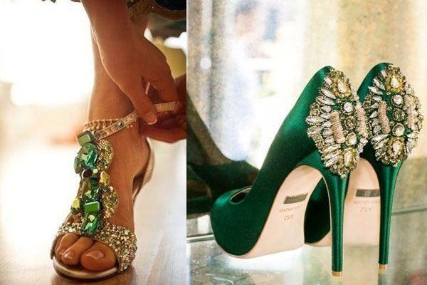 zapatos verdes - moda nupcial - foro bodas
