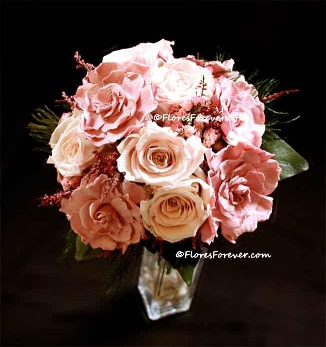 ramo gardenias rosas claras