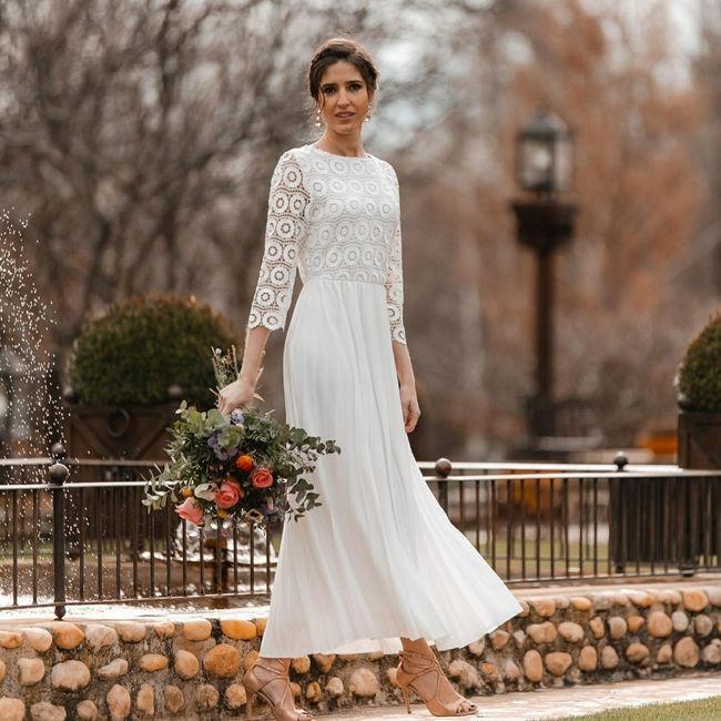 Vestido novia boda civil en Barcelona 1