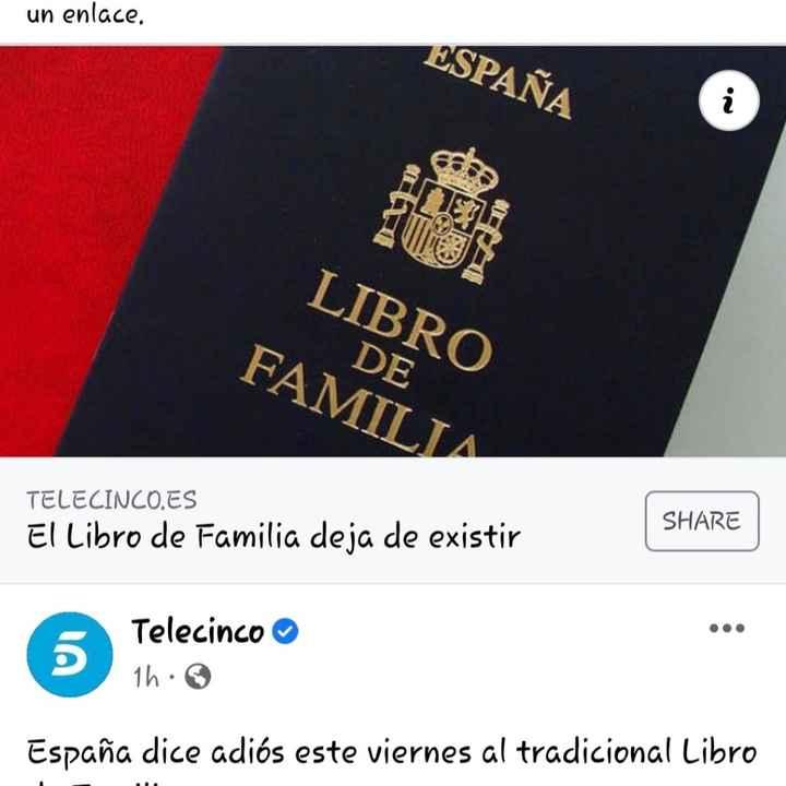 Libro de familia, deja de existir - 1