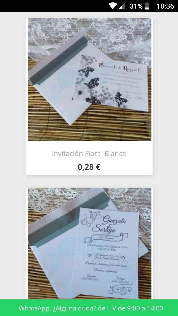 Invitaciones baratas!! - 1