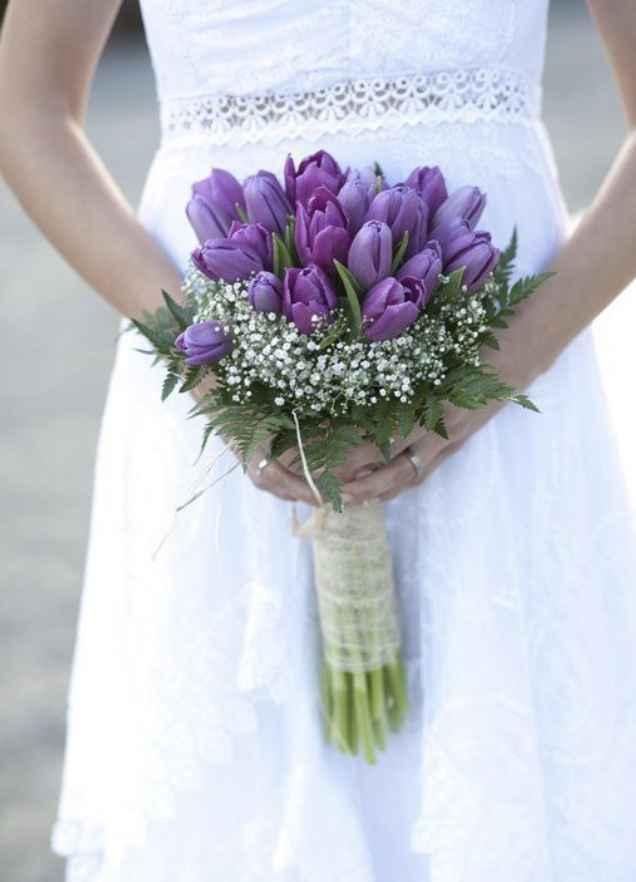 💜💟ramos de novia morados 💟💜 - 1