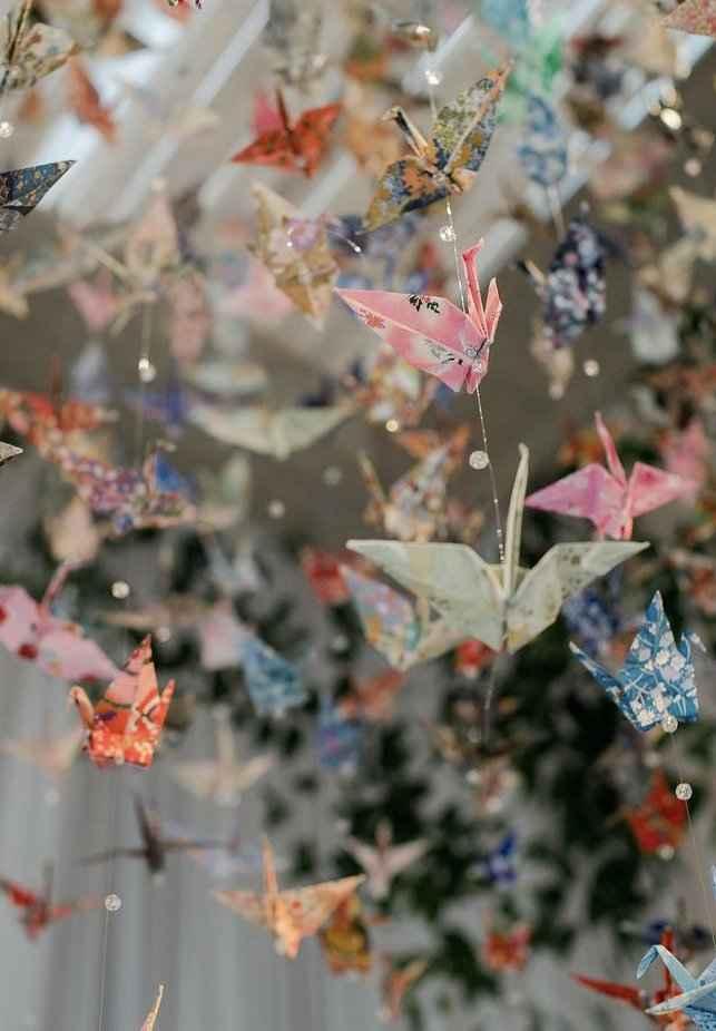 Pajaritas de papel en la decoración 3