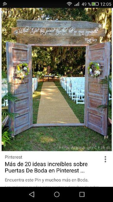Puertas de entrada ceremonia en jardin - 1