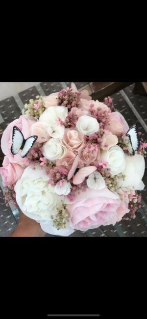 Ramo de novia con flores de papel. 1