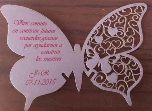 Texto mariposas de agradecimiento - 1