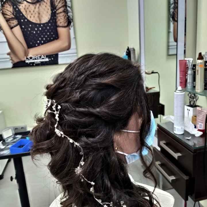 Prueba de peinado  hecha!🥰 - 1