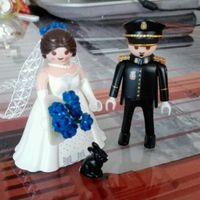 Figuritas playmobil policía para la tarta - 1