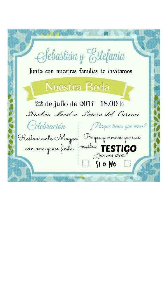 Una invitación especial - 1