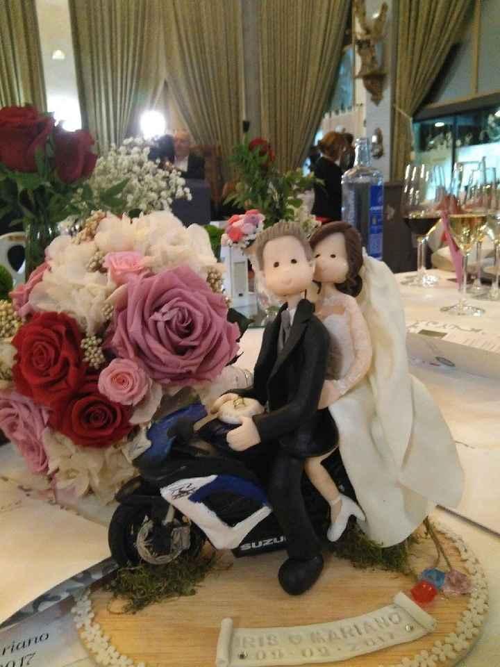 Muñeco de tarta moto deportiva - 1