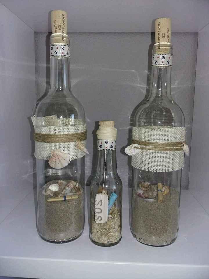 Botellas de cristal para invitaciones de boda - 1