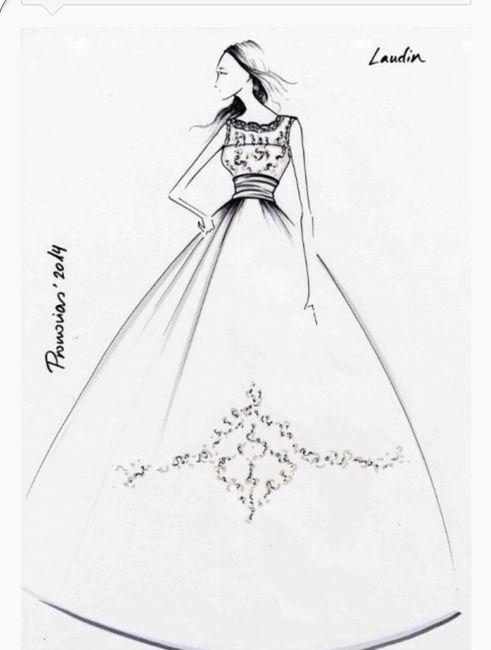 Boceto vestido pronovias laudin - 1