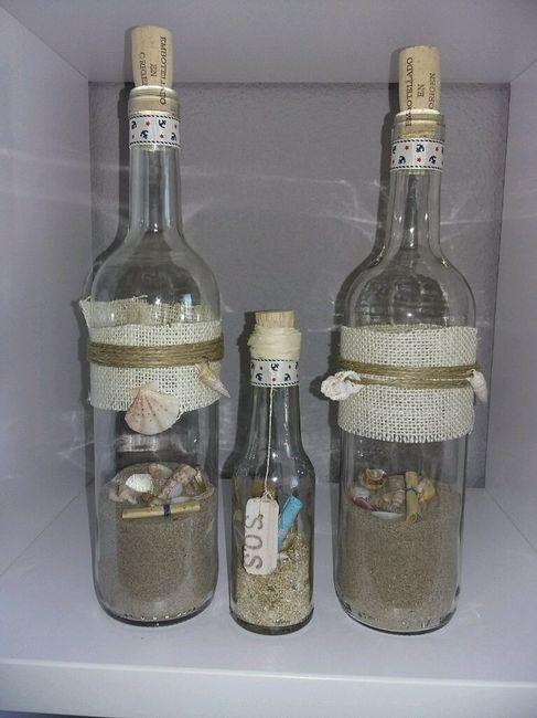 botellas de cristal para de boda