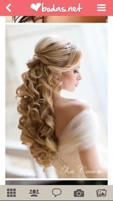Peinados semirecogidos con flequillo