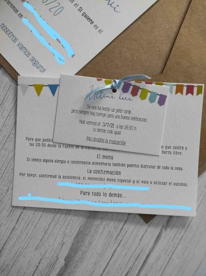 ¿Reciclar invitaciones? - 1
