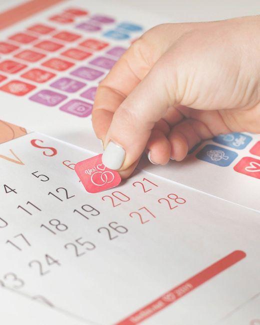 ¡Consigue las pegatinas para tu calendario! 1