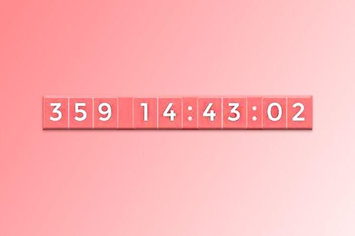 ¡Escribe solo cuántos días le quedan a tu contador! 1