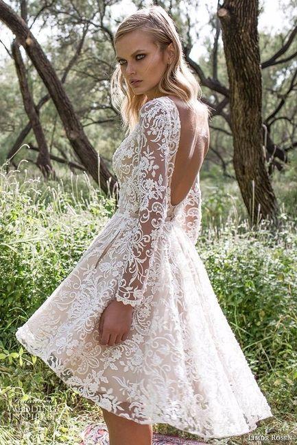 4 vestidos de novia cortos: ¿con cuál te quedas? - moda nupcial