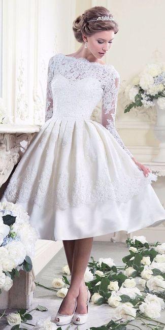96cd1602fe 4 vestidos de novia cortos  ¿Con cuál te quedas  - Moda nupcial ...