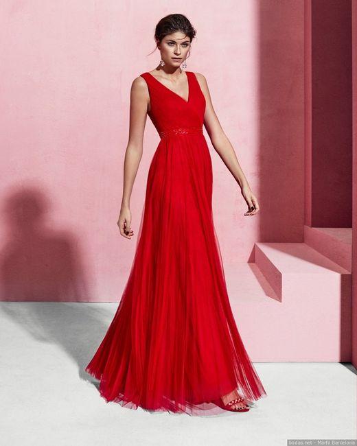 Vestidos invitada color rojo