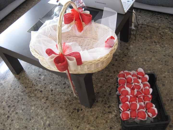 cesta arroz decorada