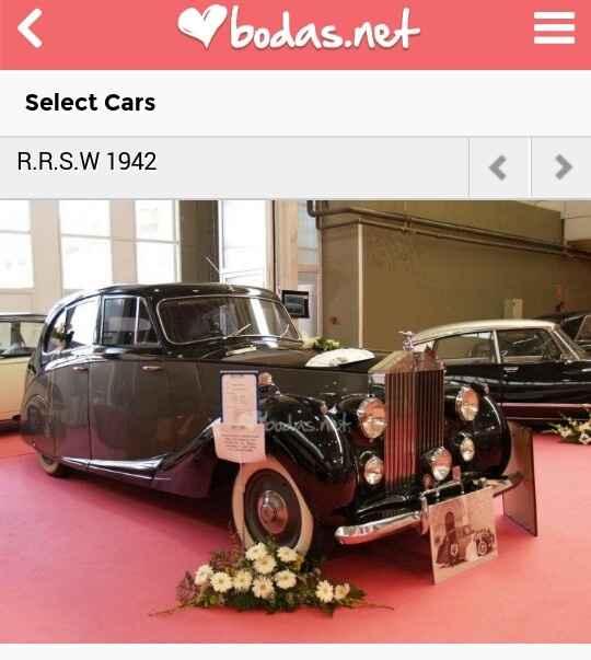¿qué coche te gustaría llevar el día de tu boda? - 1