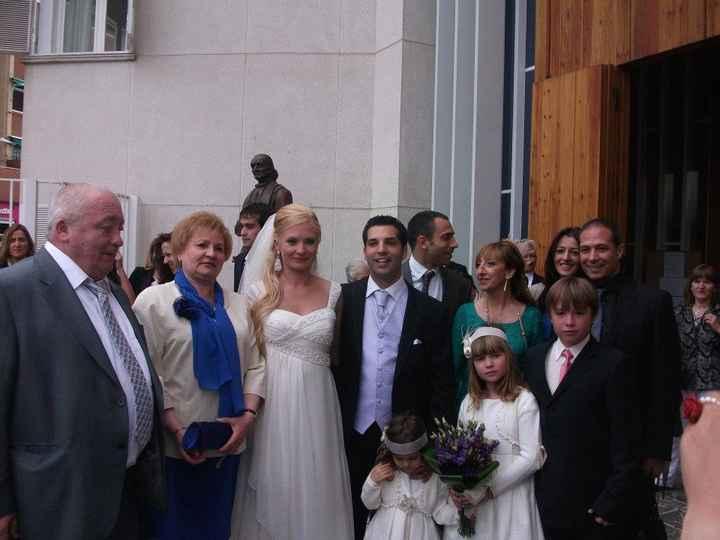 toda la familia nuestros hijos mis padres y mi suegros y hermanos