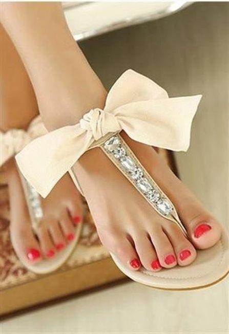 39 zapatos planos para novias - 2